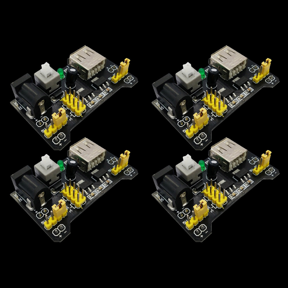VONETS 4 PCS MB102 Breadboard Power Module Supply 3.3 V Solderless Bread Board Voltage Regulator 5 V For Arduino DIY Gadgets