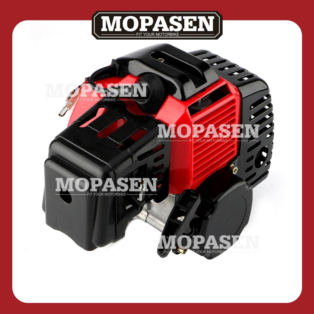 complete 49cc 2 stroke engine motor for mini pocket bike gas g scooter atv quad [ 1000 x 1000 Pixel ]