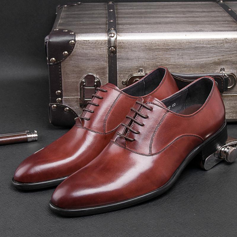 Sapatos Top Vestem Se Mycolen Chaussures Marca Mariage Lace Negócios Casamento up Alta Vintage Escritório Genuíno Homens De Red Black wine Do Couro wxqXYt0rY
