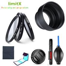 Kit de filtro limitx uv cpl nd + capuz da lente + caneta de limpeza para nikon coolpix p950 p900 câmera p900s/kodak pixpro az901
