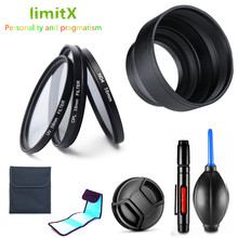 LimitX filtre kiti UV CPL ND + Lens Hood + lens kapağı + temizleme kalem Nikon Coolpix P950 P900 P900s / Kodak PIXPRO AZ901 kamera
