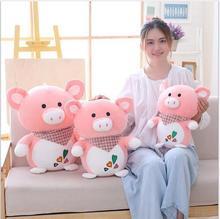 WYZHY  New Year gift mascot down cotton soft pig doll plush toy to send friends children birthday 50CM