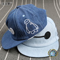 2015 Big Hero 6 Kids Baseball Caps Baby Snapback Hats Caps Hip hop style Embroidery Denim Cap Baby Boys Girls Peaked cap