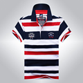 2016 New Arrival Famous Brand Clothing Tace & Shark Polo Shirt Men Stripe Fashion Shark Logo Polos Z