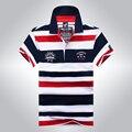 2016 Nueva Llegada Famosa Marca de Ropa Tace & Shark Shark Logo Polos Camisa de Polo Hombres de La Raya de la Moda Z