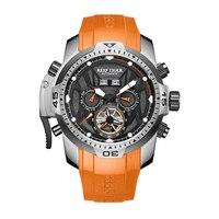 Риф Тигр Аврора Serier RGA3532 Для мужчин спортивные часы с год месяц и день на каждый день с круглым циферблатом и календарем Мужские автоматичес