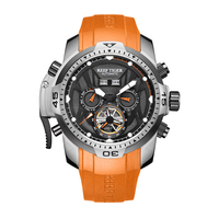 Reef Tiger Aurora Serier RGA3532 Men Sport With Year Month Date Day Calendar Dial Automatic Mechanical Wrist Watch