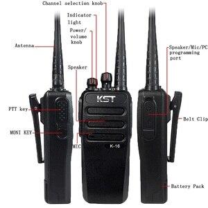Image 4 - Walkie Talkie KST K16 10KM, 16W, Radio bidireccional, portátil, transceptor FM de largo alcance con batería de 4000Mah