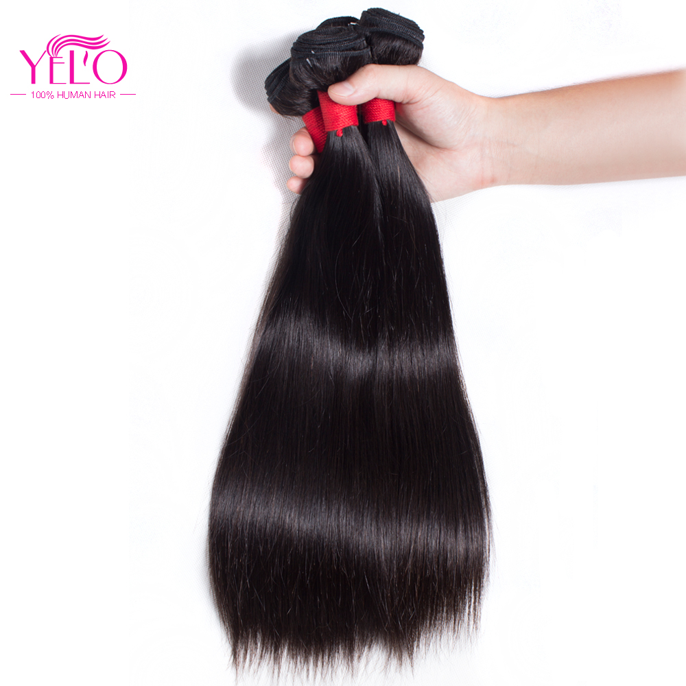 Straight perm bleached hair - Yelo Straight Hair Peruvian Remy Hair Bundles 100 Human Hair Weaving 1pc Natural Color Can