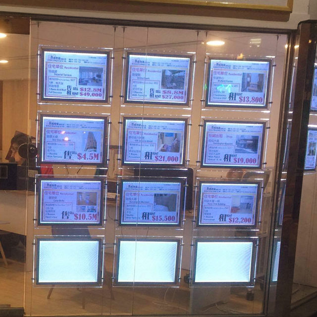 Immobilienmakler led fenster display zeichen acryl - Fenster abdichten acryl ...