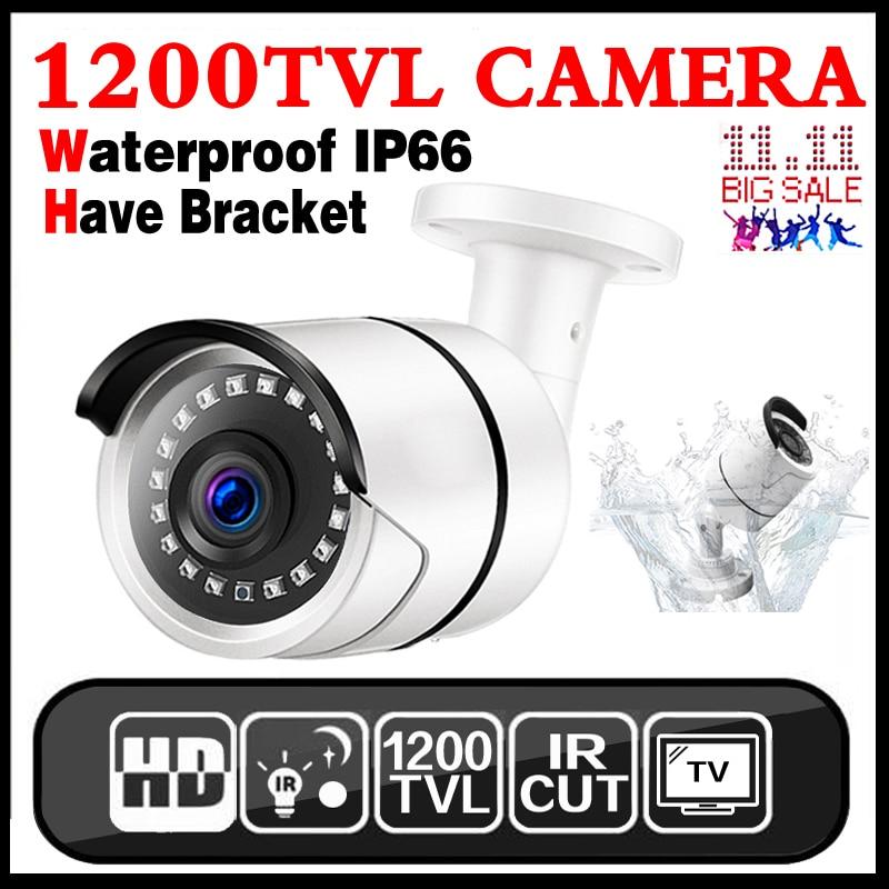 1/3 cmos 1200TVL cctv Analog surveillance camera with 3.6mm Lens waterproof camera security outdoor camera MELAT Waterproof IP66