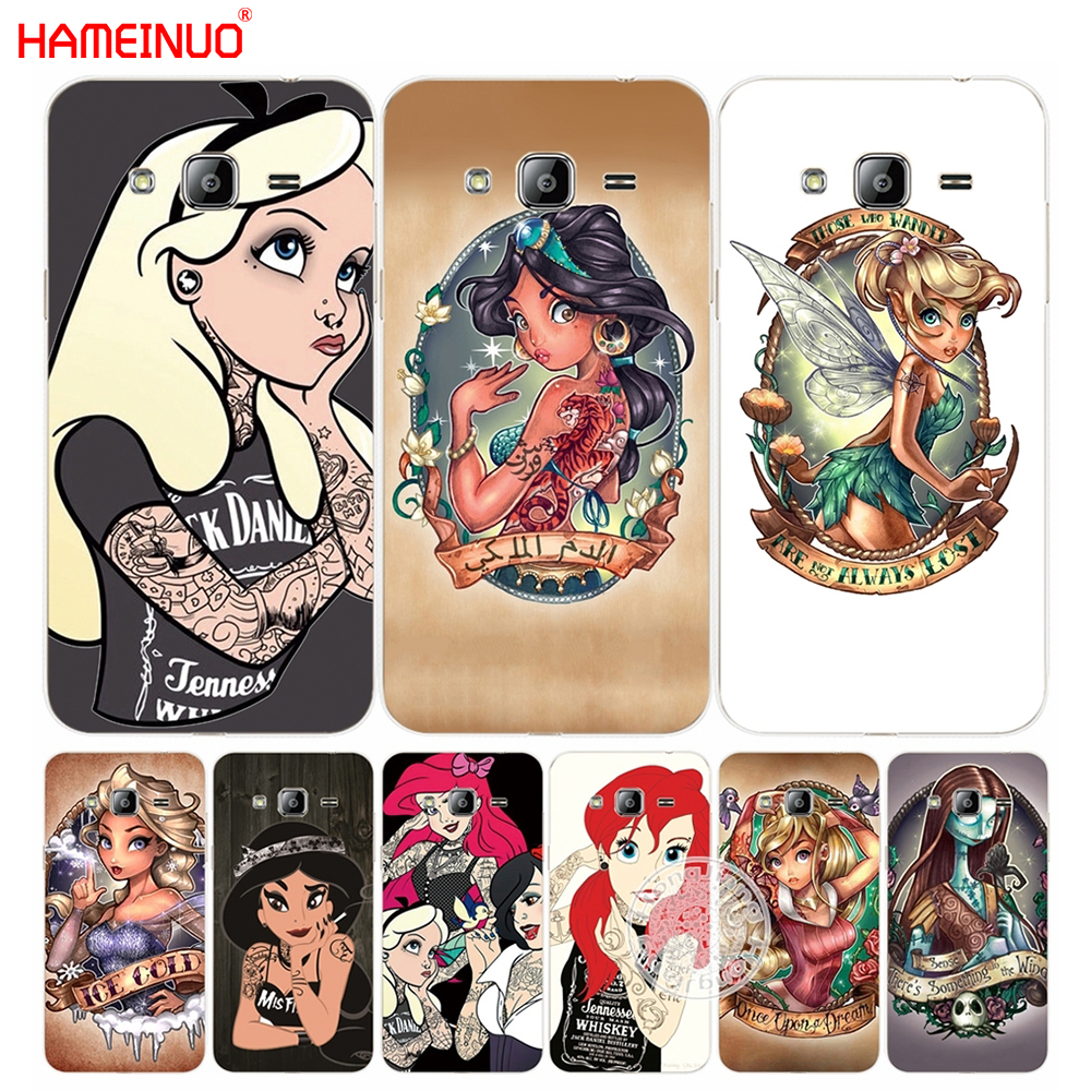 HAMEINUO Tattoos Princess cover phone case for Samsung Galaxy J1 J2 J3 J5 J7 MINI ACE 2016 2015
