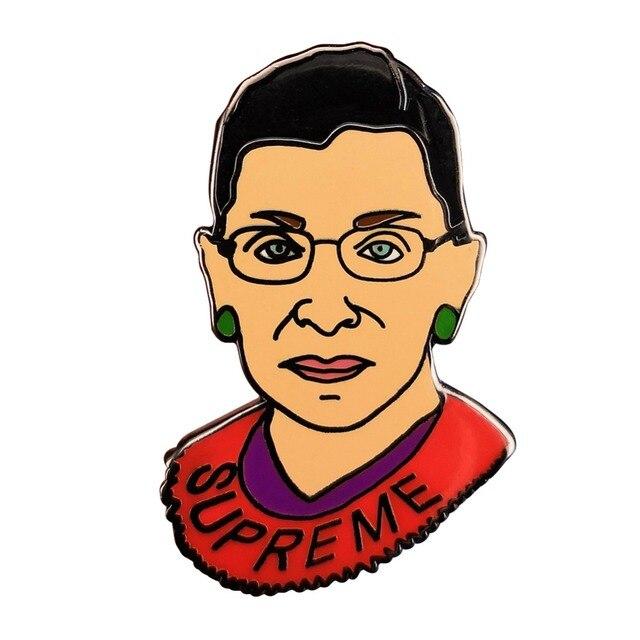 supreme ruth bader ginsburg women pin badge notorious rbg feminists