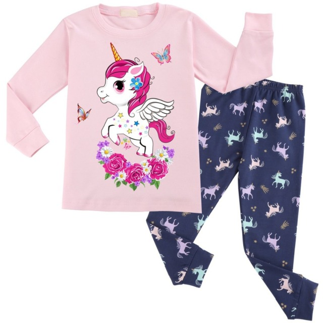 11b094efb Unicorn Cotton Baby Girls Clothes Winter Newborn Baby Clothes Set ...
