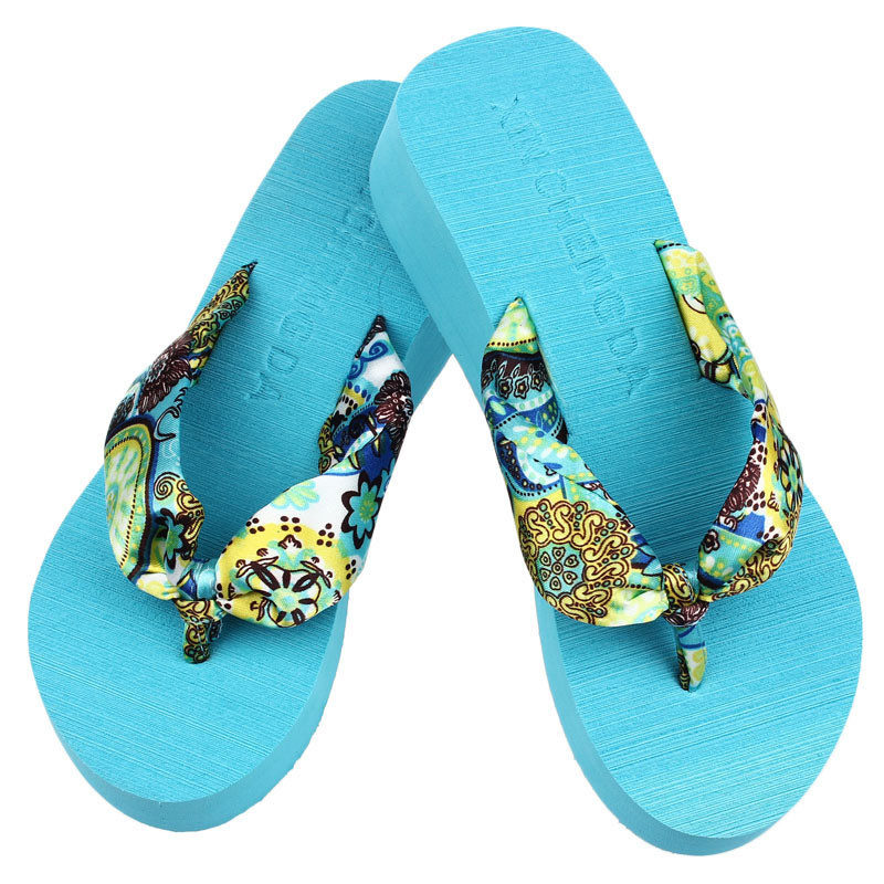Wedge Platform Thong Flip Flops Sanda Indoor & Outdoor Flip-flops Beach Slipper Fashion Beach Flip-flops Summer Sandals Casual free shipping 2016 summer diamond woman sandals casual flat thong flip flops fashion beads wild sandals white black st338