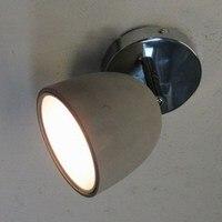 Novo design moderno sombra de concreto conduziu a lâmpada do teto luminárias cabeça ajustável para o quarto/sala estar luzes teto halogênio