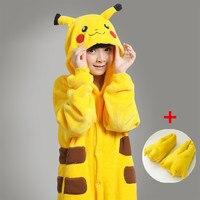 Free Shipping 2014 Pikachu Kigurumi Cosplay Pajamas Fror Kids Child Animal Pyjamas Onesies Costume Girls Jumpsuit