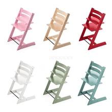 Nodic простой дизайн, деревянные детские стулья с регулируемой высотой 10-58 см из цельного дерева, стульчики для кормления детей, обеденный стул