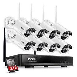 ZOSI 8CH نظام الدائرة التلفزيونية المغلقة لاسلكية 1080P NVR 8 قطعة 1.3MP IR في الهواء الطلق P2P Wifi IP CCTV الأمن نظام الكاميرا الفيديو طقم مراقبة