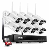 ZOSI 8CH Sistema CCTV Wireless 960 P NVR 8 UNIDS 1.3MP IR Al Aire Libre P2P Wifi IP CCTV Sistema de Vigilancia de Cámaras de Seguridad Kit