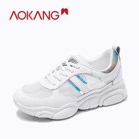 AOKANG Women Shoes Chunky Sneakers Women Vulcanize Shoes Casual Summer Fashion mesh Shoes woman Platform women Sneakers Basket