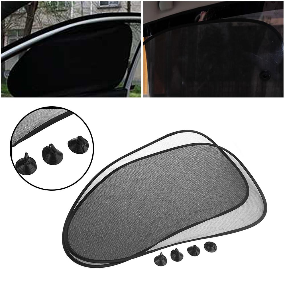 1 New Sun Shade Black Window Screen Cover Mesh Visor Sunshade Protector Car Auto
