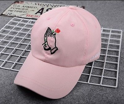 2017new fashion Unisex black white pink summer baseball caps Women MenFlower Rose Embroidered Curved Brim Baseball Cap Visor Hat 2016 new new embroidered hold onto your friends casquette polos baseball cap strapback black white pink for men women cap