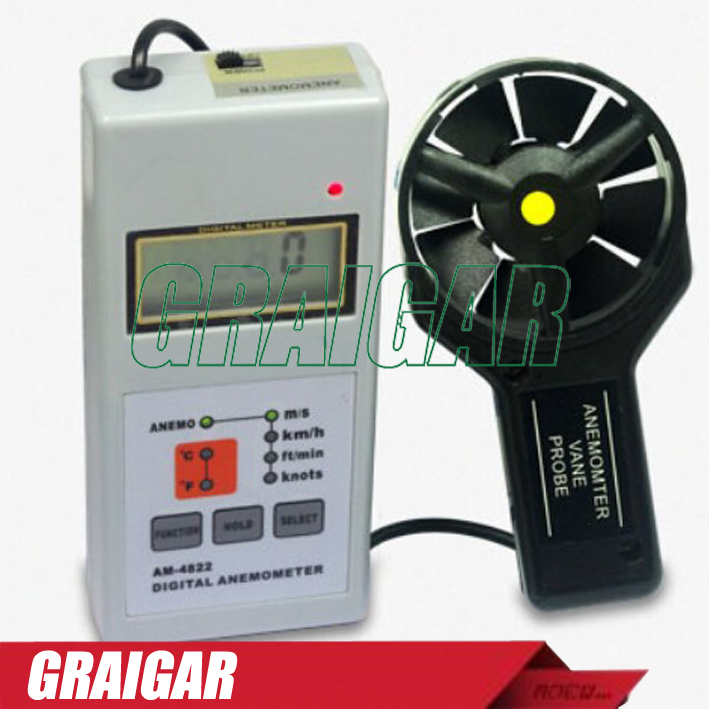 Digital Anemometer AM-4822,AM4822, wind tester,anemometers am 4822 digital anemometer