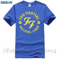 New Ff Foo Fighters T Shirt Men Summer Short Sleeve Cotton Casual O Neck Ff Rock