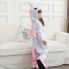 dd5b6d1c08de Kigurumi Onesie детские пижамы для девочек и мальчиков единорог пижамы  зимние пижамы детские костюмы наборы животных