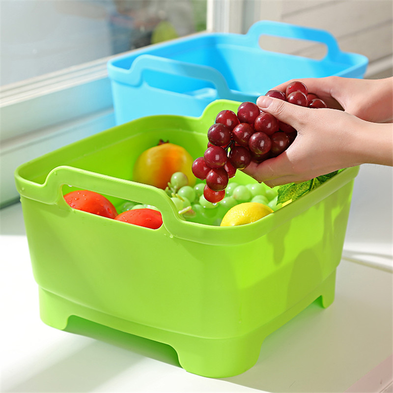 Eco Plastic Square Sink Drain Pad Tableware Protection Washing Dish Drain Board 4Colors Ventilation Cushion For Cup Vegetable
