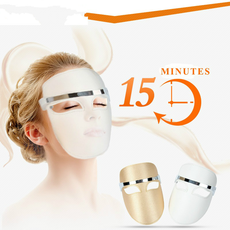 electric LED Facial Mask Red Blue Orange Color Photon Skin PDT Boosts Blood Circulation Relieves Stress On Skin Beauty Care under a blood red sky