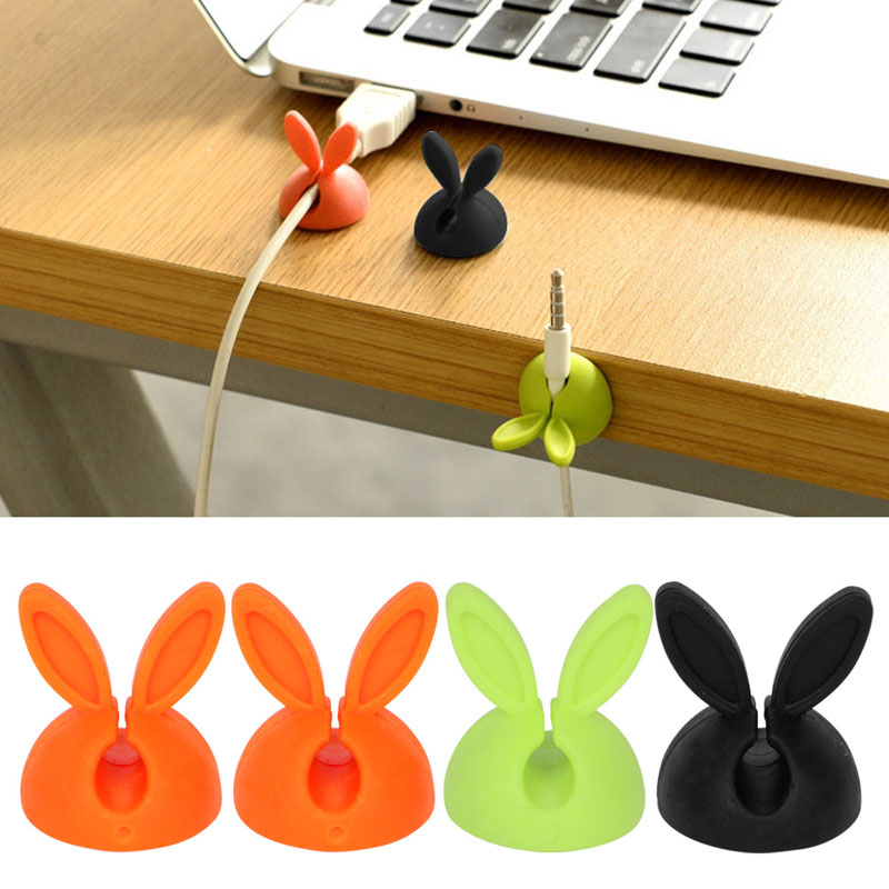 Consumer Electronics Accessories & Parts New Fashion Caldecott 4pcs Cable Clip Desk Tidy Wire Drop Lead Usb Charger Holder Mouse Cable Cord Organizer Holder Secure Tidy Wire Table