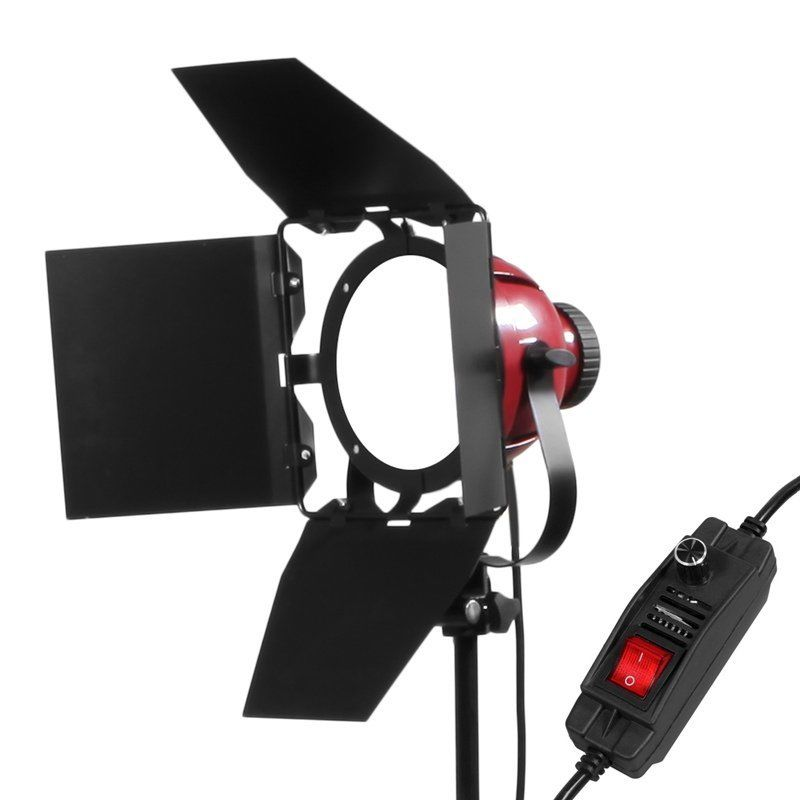 50W LED Redhead  Light Dimmable Continuous Light Photo Studio Monolight + Barndoor For Filming Studio Continuous Lighting Studio50W LED Redhead  Light Dimmable Continuous Light Photo Studio Monolight + Barndoor For Filming Studio Continuous Lighting Studio