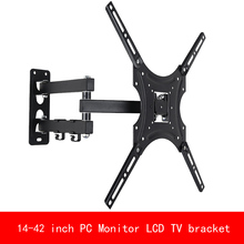 Retractable Full Motion TV Wall Mount Bracket Wall Stand Adjustable Mount Arm Fit for Plasma Flat LED TV 14-42 Support 25KG original tnpa5072ac plasma tv ss board 42 screen
