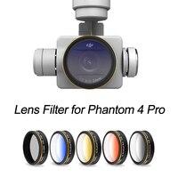 Kademeli renkli Lens filtre DJI Phantom 4 Pro için 4A Drone kamera CPL Lens filtre kademeli mavi turuncu gri kırmızı için P4P P4A|filter for lens|filter colorfilters for camera -