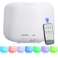 DMWD Remote Control 300ML Ultrasonic Air Aroma Humidifier With 7 Color Light Electric Aromatherapy Essential Oil