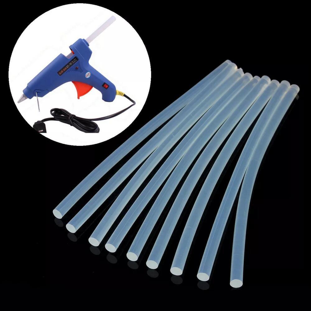 New 10Pcs 7mm Hot Melt Glue Stick for Heat Pistol 7x100mm High Viscosity Repair Tool Kit DIY Hand