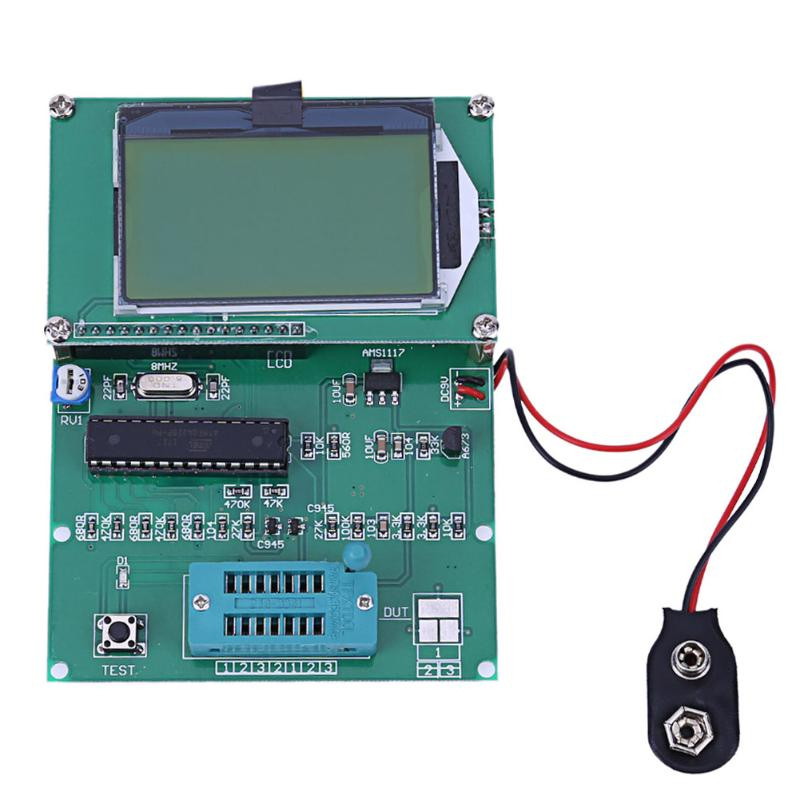Digital Transistor Tester LCR Diode Capacitance ESR Meter Backlight LCD Display Square wave Frequency Signal Generator