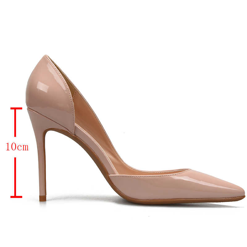 Scarpe di marca Donna di Alta Talloni delle Pompe Red Tacchi Alti 10 CENTIMETRI Scarpe Da Donna Tacchi Alti Scarpe Da Sposa Pompe Nero Nudo scarpe Tacchi