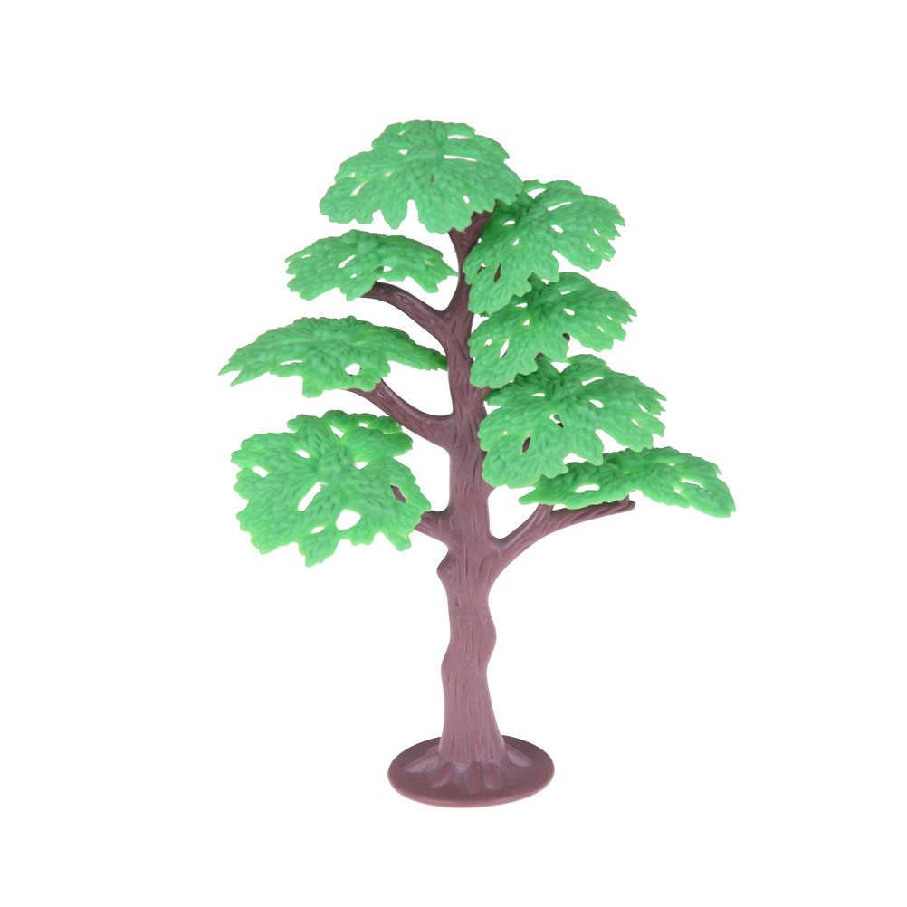 Ho Skala Mini Plastik Model Pohon untuk Membangun Kereta Api Kereta Api Permainan Tata Letak Pemandangan Diorama Aksesoris