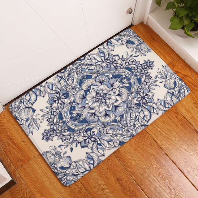 19 Style Geometric Flower Pattern Print Carpets Anti Slip Floor Mat