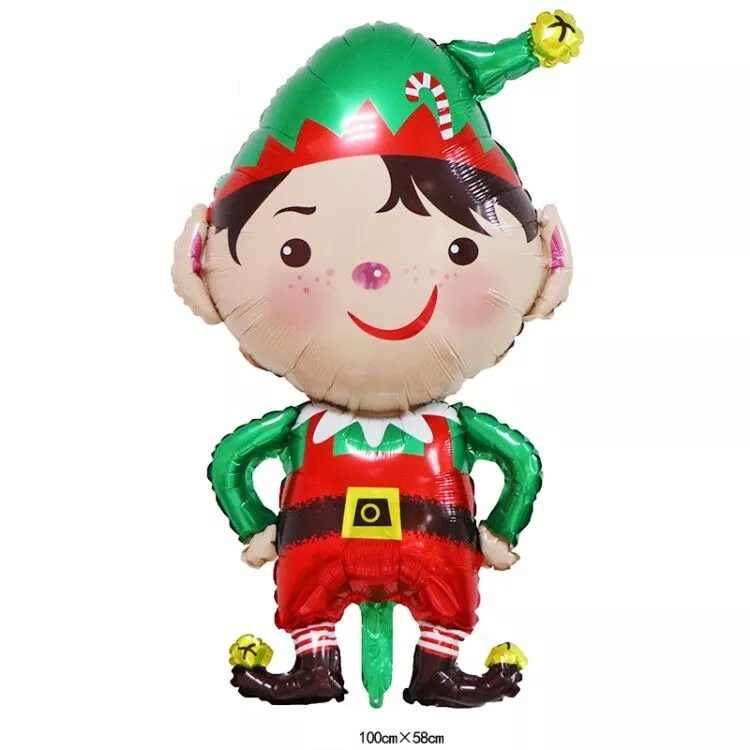 Hijau Merah Topi Badut Anak Balon Foil Natal Mainan Anak Anak Inflatable Helium Balon Pesta Ulang Tahun Bayi Dekorasi Hadiah