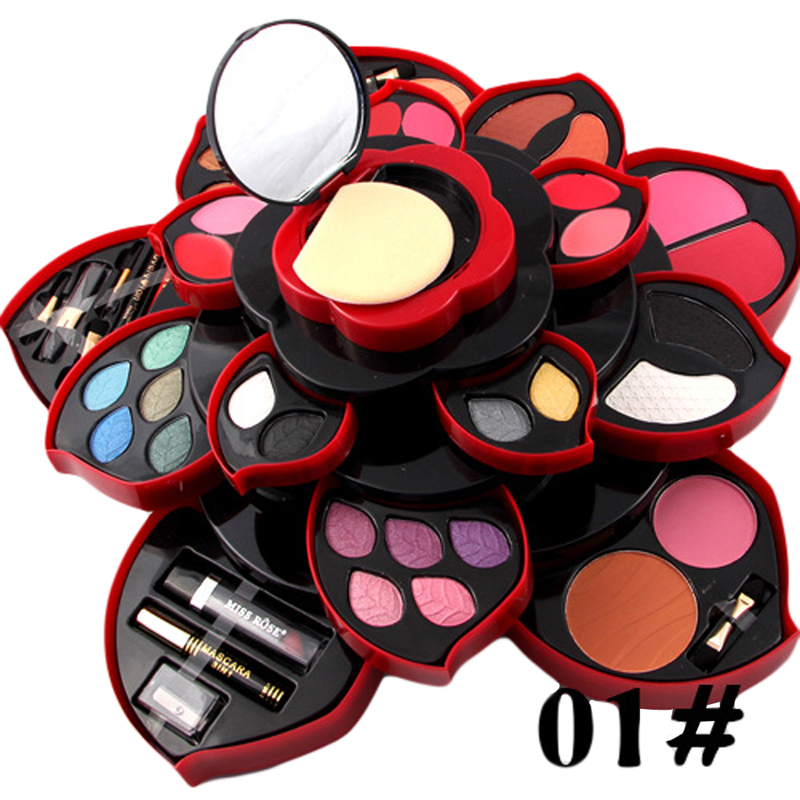 Miss Rose Professional Makeup Set The Ultimate Colour Matte Lipstick Face Blush Eyebrow Pencil Eye Mascara Eyeliner Nail Oil learnever makeup set eye shadow eyeliner liquid eyebrow pencil mascara powder cake foundation lipstick blush concealer maquiagem
