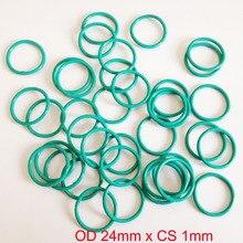 OD 24mm x CS 1mm viton fkm high temperature o ring oring o-ring cord sealing rubber