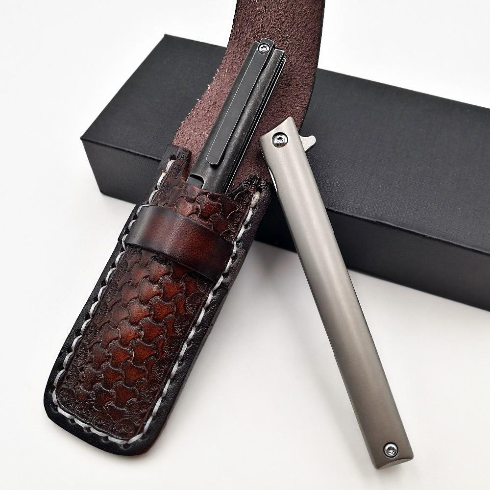Купить с кэшбэком JSSQ Pocket Folding Knife M390 Blade Titanium Handle Outdoor Survival Diving Tactical Knives Camping Hunting Utility EDC Tools