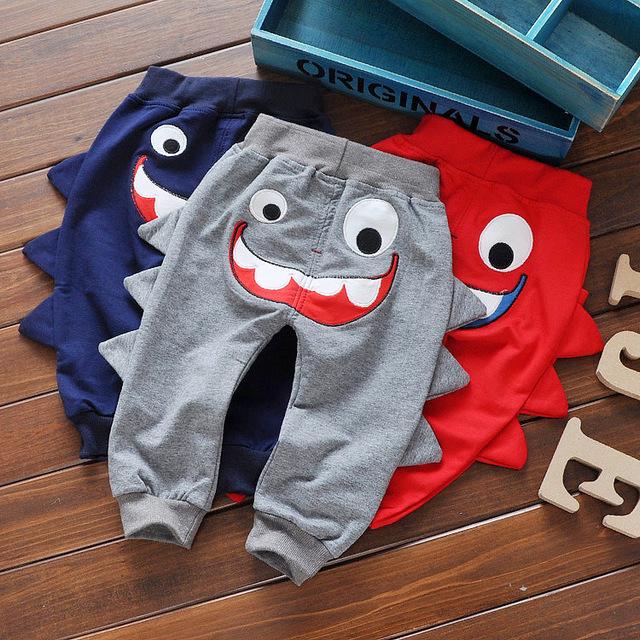 Nueva venta caliente de alta calidad de los niños y las niñas ropa 100% de algodón pantalones pantalones lindos del bebé
