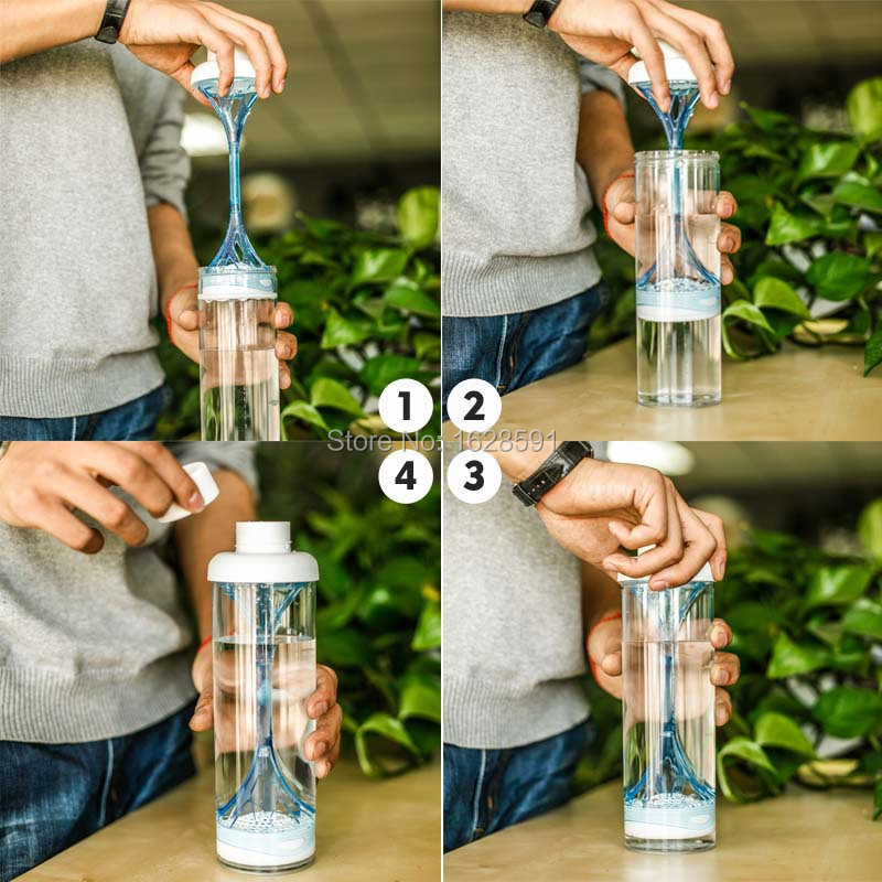 NEW 321 Water Filter Bottle Orange with 1 Filter 500ml