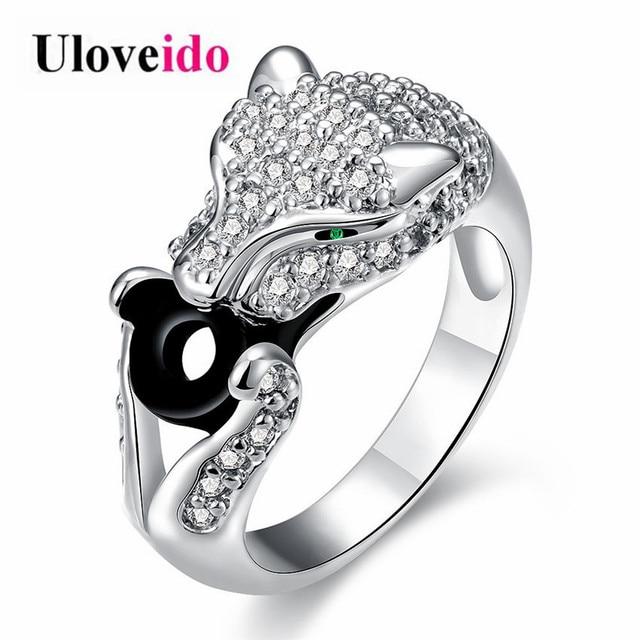 Uloveido Leopard Swallow Coin Treasure Symbolic Silver Color Ring