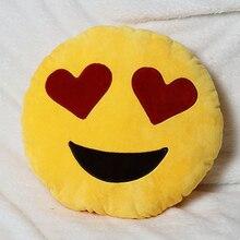 Cama Home Office Car Emoji Smiley Sonrisa Emoticon Amarillo Ronda Almohada Cojín de Peluche de Juguete Peluche Suave